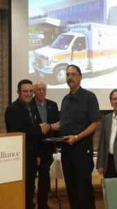 EMT Joe Orr received the BLS Provider of the Year Award