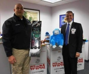 Mobile Life Support Services Assistant Director of Operations Kevin Delmonico and Catskill Regional's CEO Dr. Gerard Galarneau.