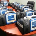 12 new Zoll X Series monitors all prepped and ready for service